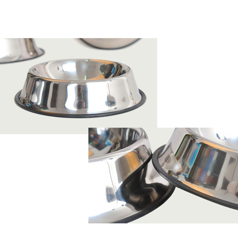 731a7ffb076be5c6563aa97486c228a8 Generic 15CM Stainless Steel Pet Puppy Cat Anti Slip Feeding Feeder Food Water Bowl Dish price on jumia