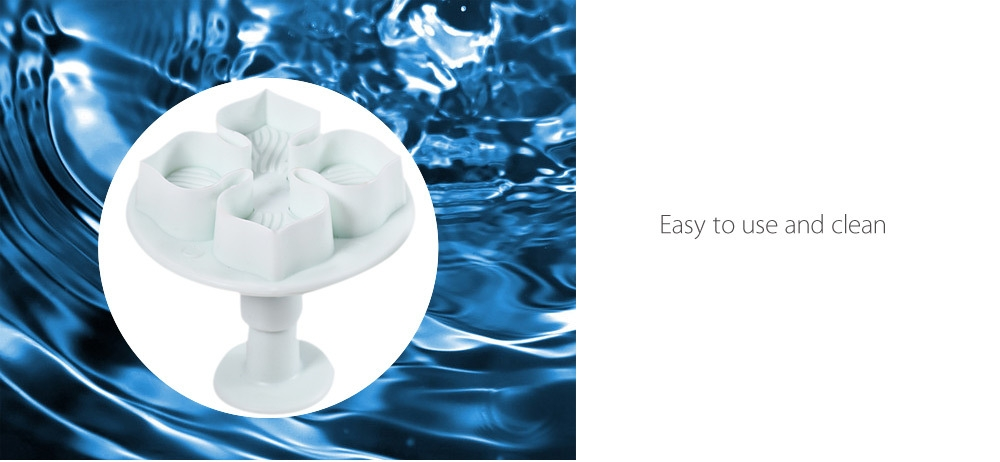 3pcs Plastic DIY Hydrangea Flower Fondant Cake Mould Plunger Cutter Tool for Kitchen Baking