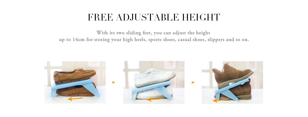 Adjustable Simple One-Piece Plastic Shoe Rack