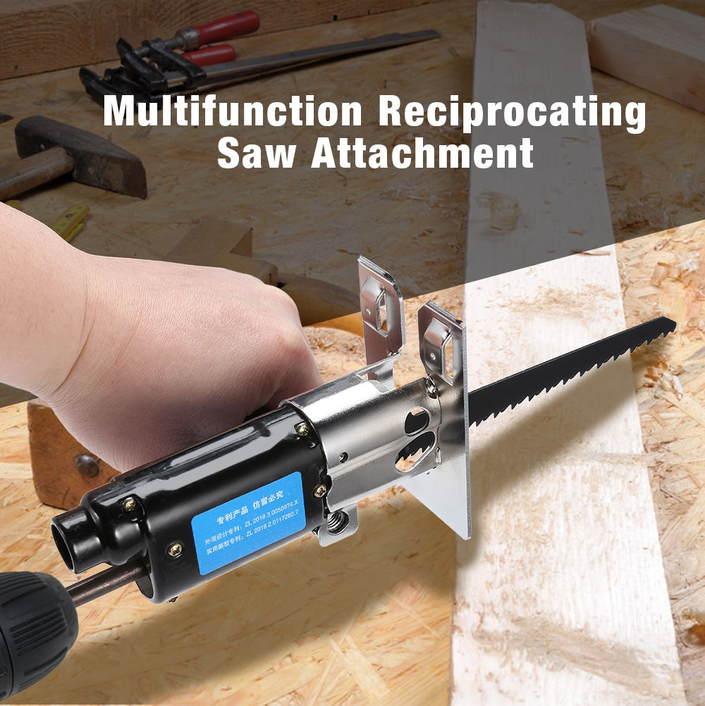 Multifunction Reciprocating Saw Attachment Change Electric Drill for Wood Metal Cutting
