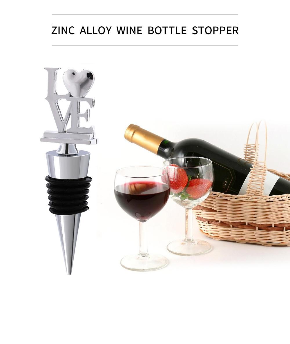 Romantic Love Letter Red Wine Bottle Stopper