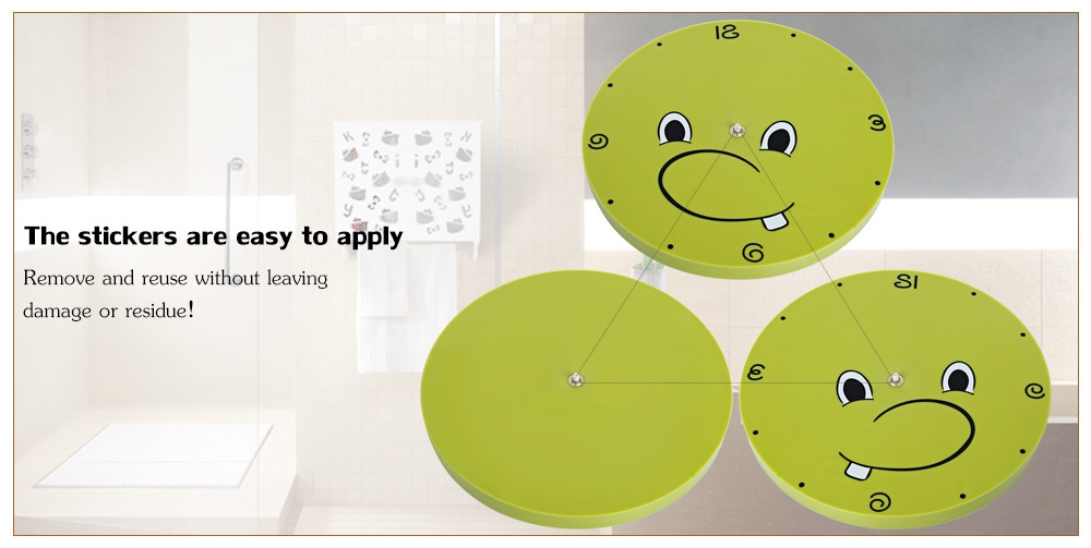 Creative 3D Sticker Wall Clock Dinosaur Pattern Home Decoration