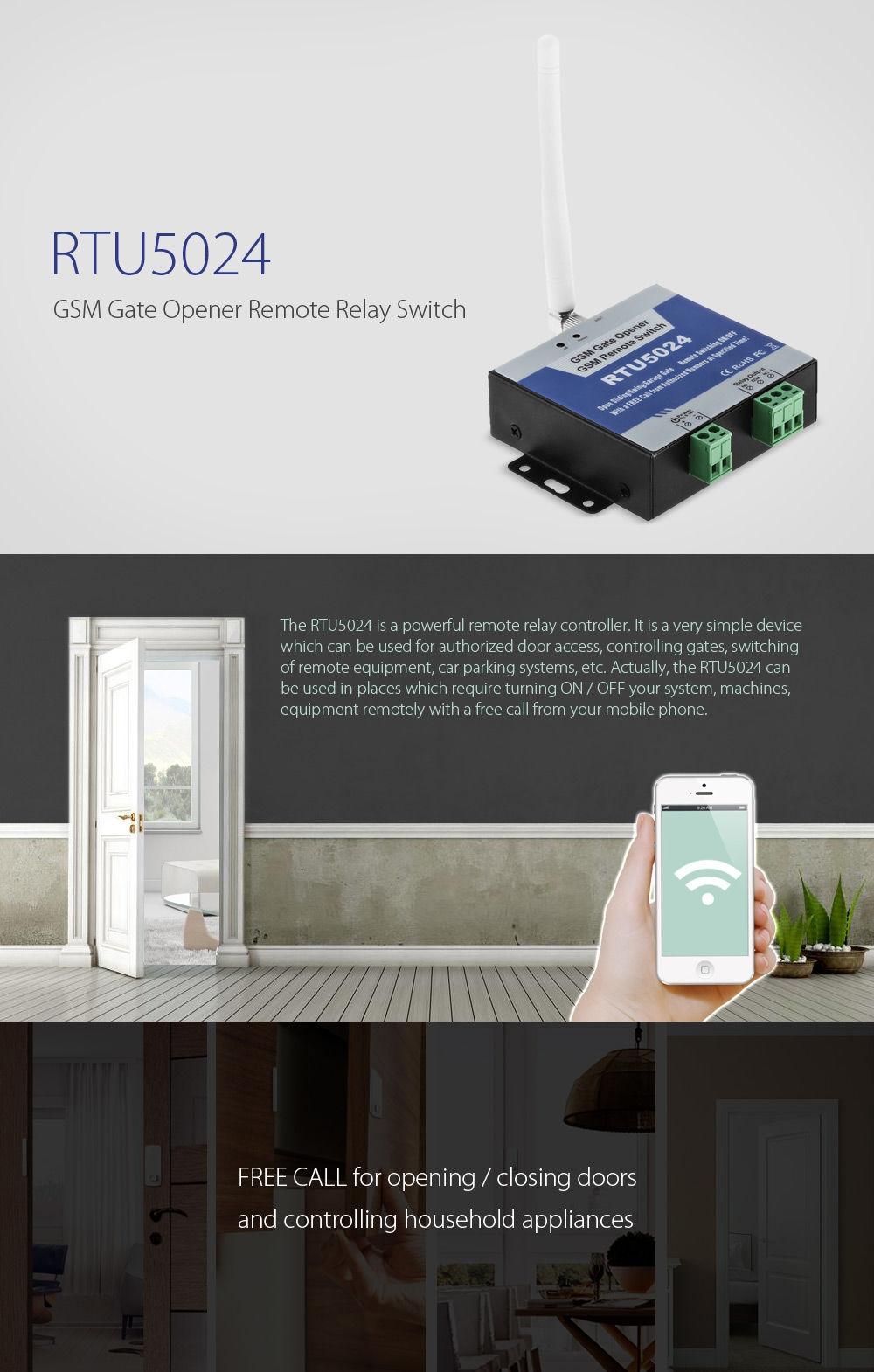 Generic RTU5024 GSM Gate Opener Remote Relay Switch - Blue