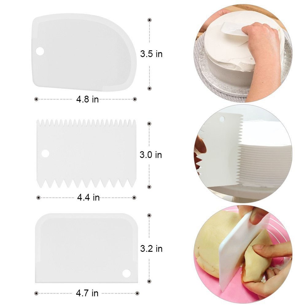 Cake Decorating DIY Tools Set with Cake Turntable Icing Spatula Smoother