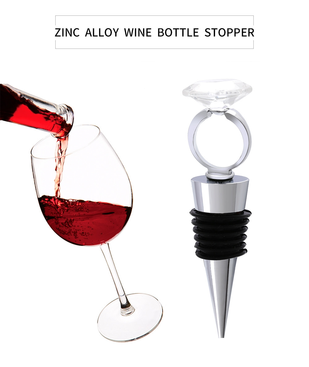 Creative Diamond Ring Design Wine Bottle Stopper