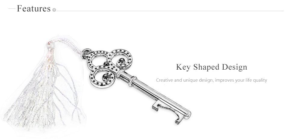Elegant Key Shaped Zinc Alloy Beer Bottle Opener