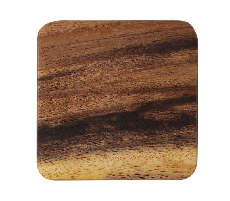 Mug Coaster Round Square Wood Cup Coaster Table Mat Kitchen Placemat Cup Pad Glass Teapot Drink Coasters Table Accessories (10-1)