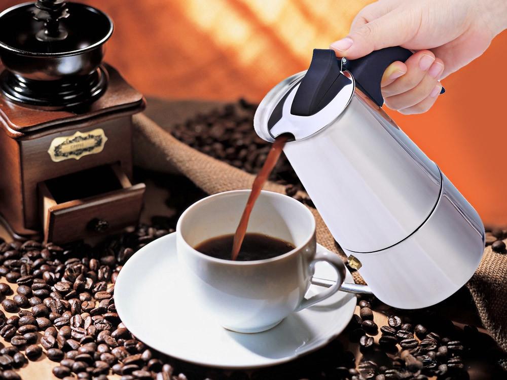100ML 2-Cup Stainless Steel Mocha Espresso Latte Percolator Stove Coffee Maker Pot