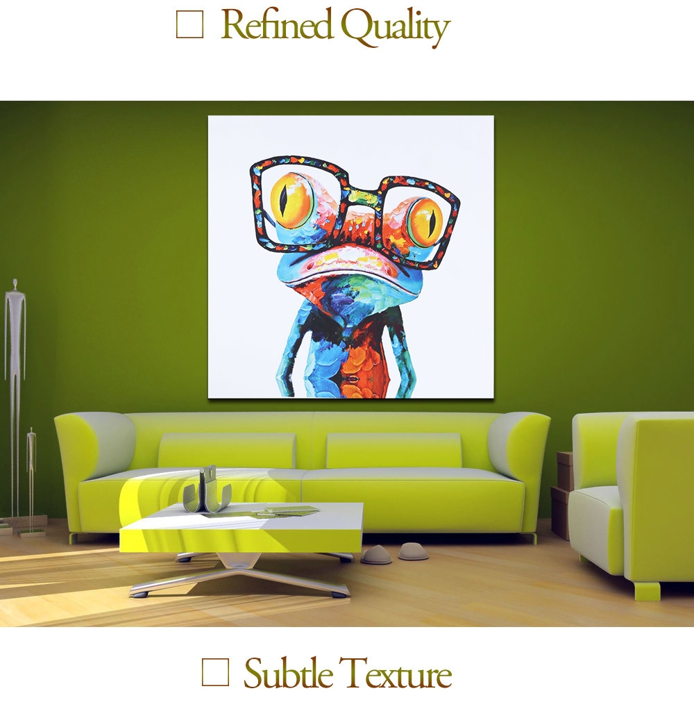 Generic modern canvas painting colorful frog pattern 50 x for Home decorations on jumia