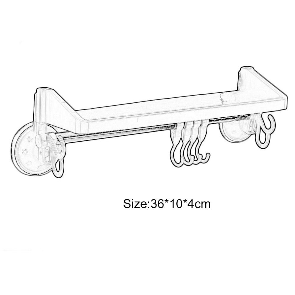 Standard Tub Size And Other Important Aspects Of The Bathroom: Generic Powerful Suction Bathroom Hanging Storage Rack