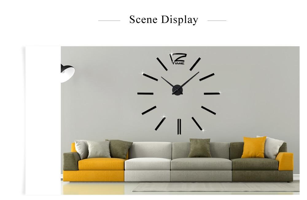 M.Sparkling Large 3D Mirror Effect Sticker DIY Quartz Wall Clock