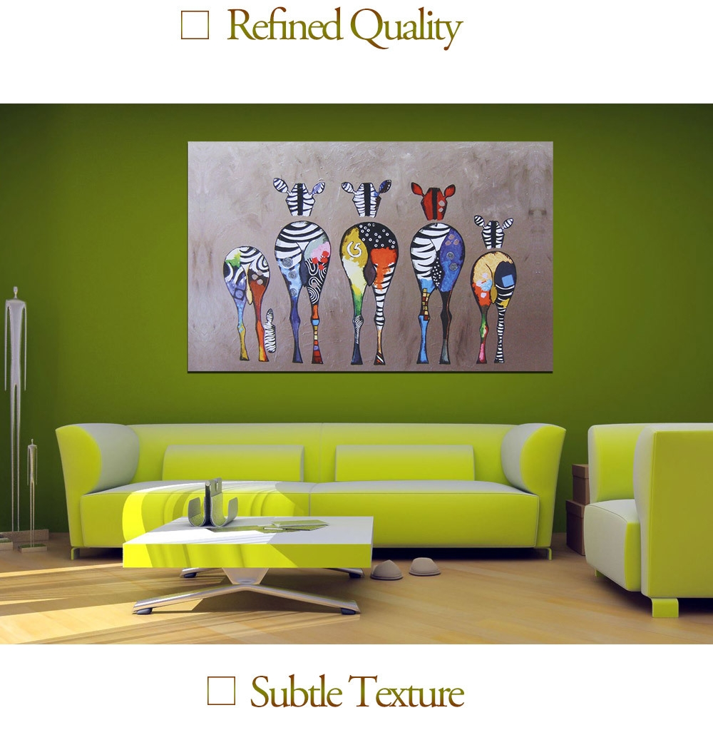 Generic modern canvas painting zebras pattern home decor for Home decorations on jumia