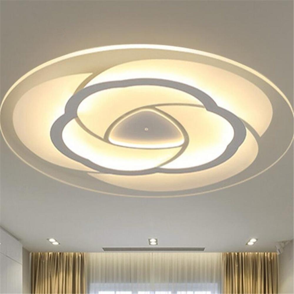 Generic Modern Simple Floral Design Acrylic LED Ceiling Light Living ...