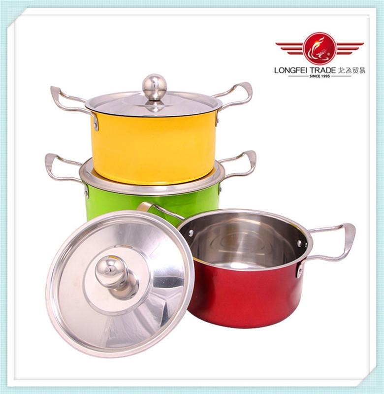 Hot Sale Non-stick 3 pcs Indian Stock Pot
