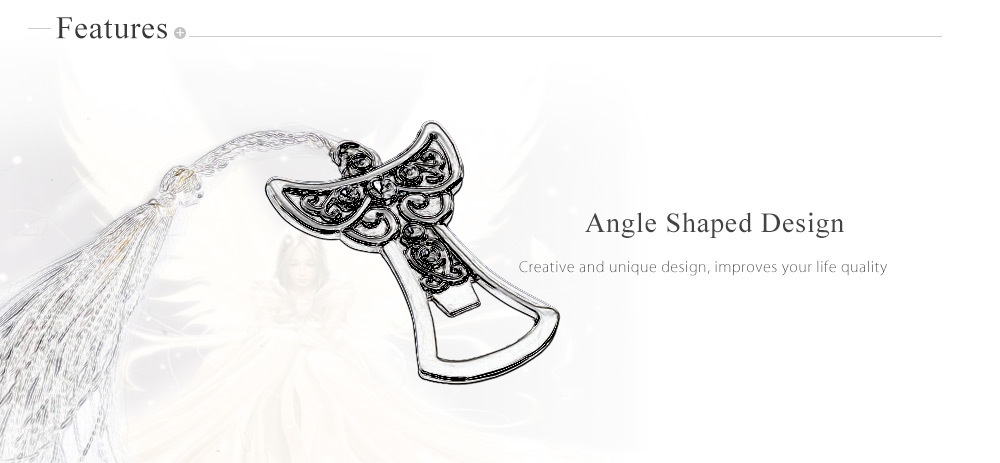 Elegant Angle Shaped Zinc Alloy Beer Bottle Opener