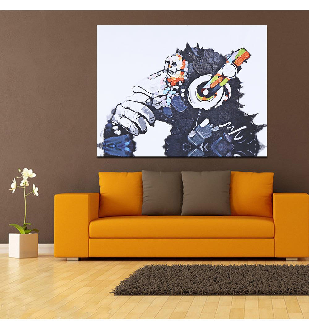 generic modern canvas painting chimp pattern home decor 50