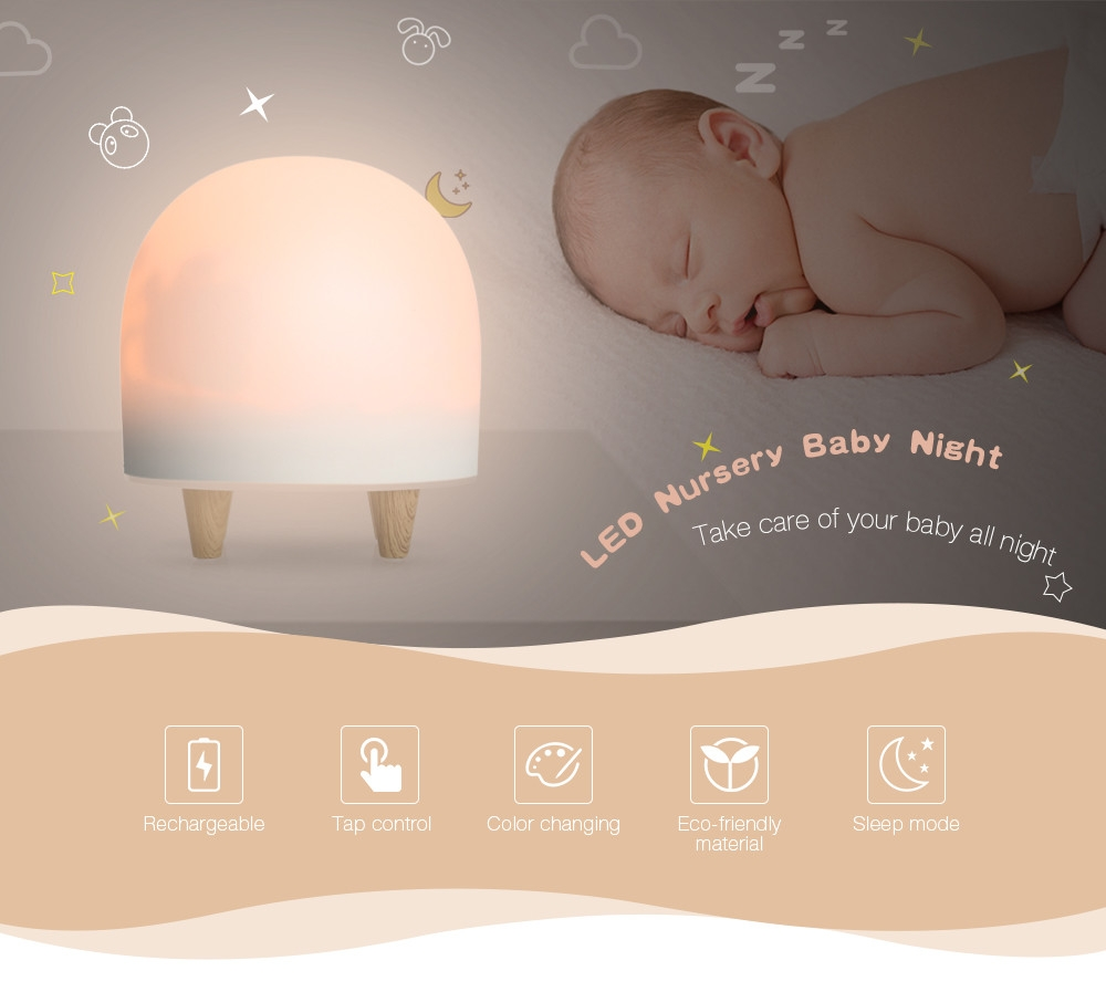 RG - L023 Portable LED Nursery Baby Night Light Silicone Cute Lamp for Kids Bedroom