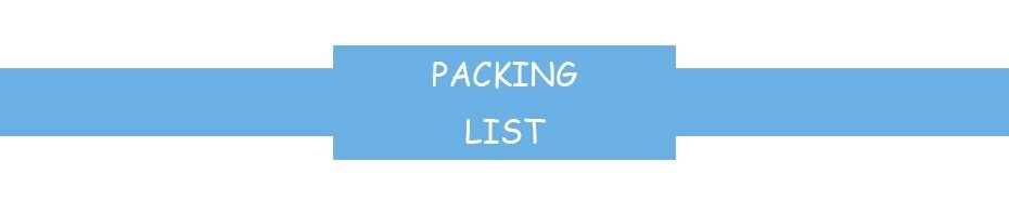 0packing list