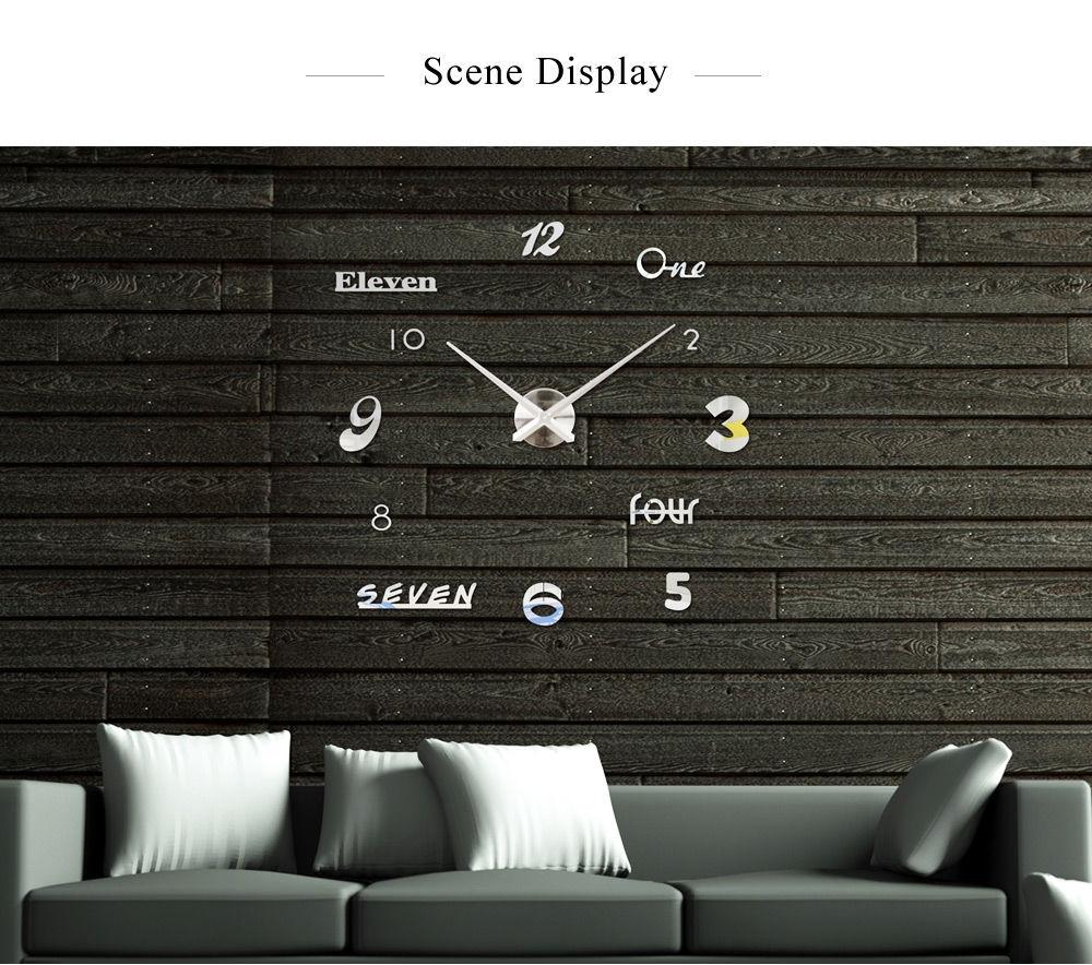M.Sparkling Numbers Letters Sticker DIY Digital Clock