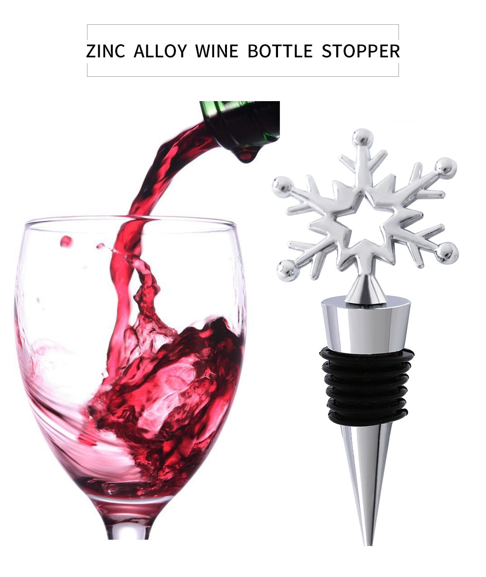 Zinc Alloy Snow Shaped Wine Bottle Stopper