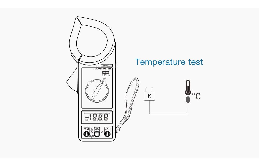 Generic 266c Digital Clamp Meter Multimeter Ac Dc Test