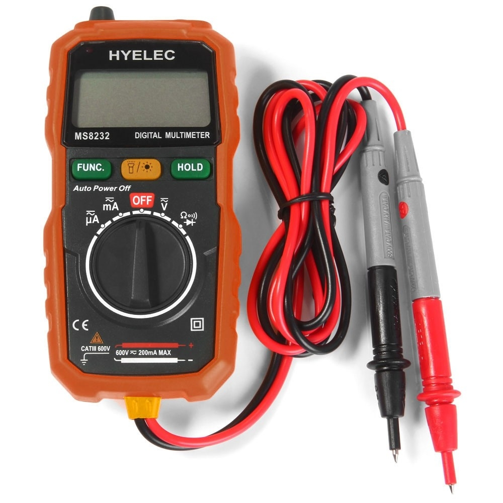 Primary Voltage Tester : Hyelec ms non contact mini digital multimeter dc ac