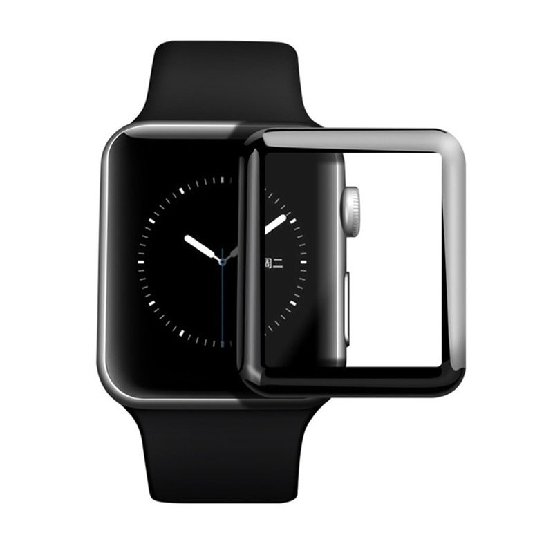 For i Watch Series 4 40mm 44mm 4D Tempered Glass Film For Apple Watch 4 Series 44 40 Curved Screen Protector Film (1)