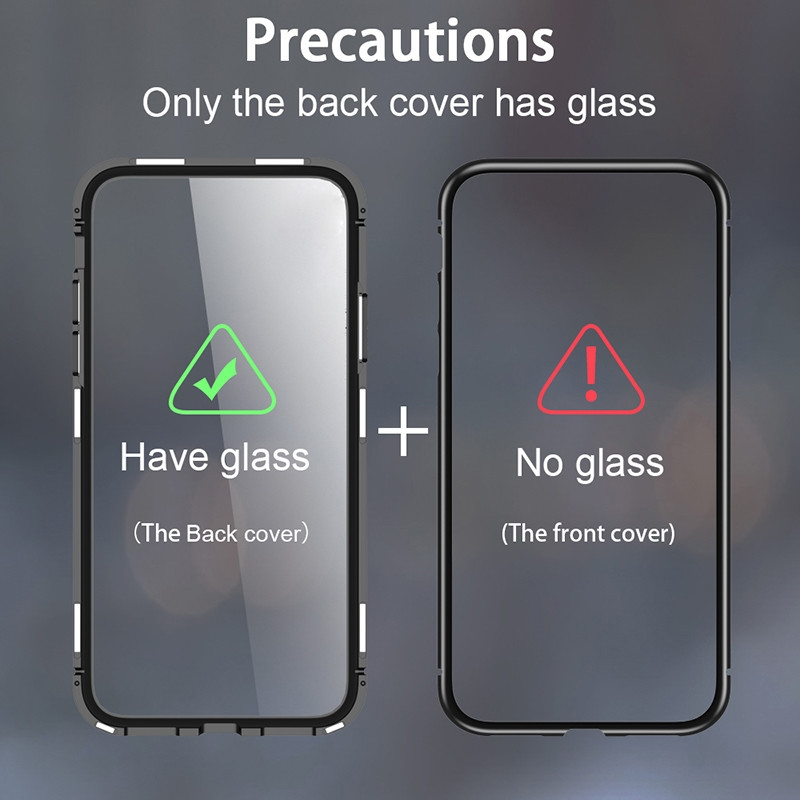 magnetic-flip-case-for-xiaomi-mi-8-lite-case-clear-tempered-glass-back-cover-metal-frame