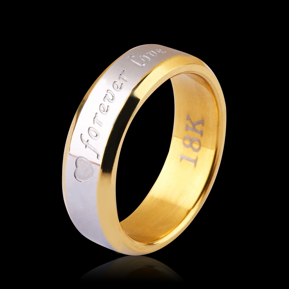 Buy Allwin Forever Love Lovers Couple Matching Ring Steel