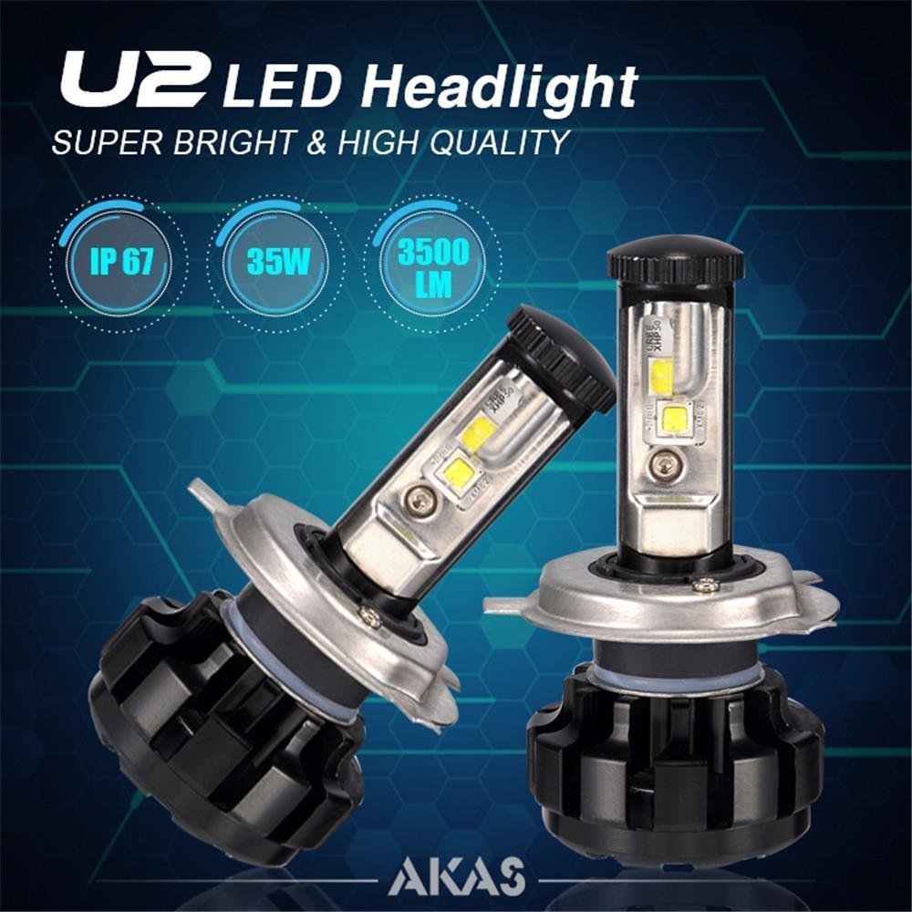 Generic 2Pcs U2 70W 7000Lm Led Headlamp H1 H3 H4 H7 H11/H8/H9 9005