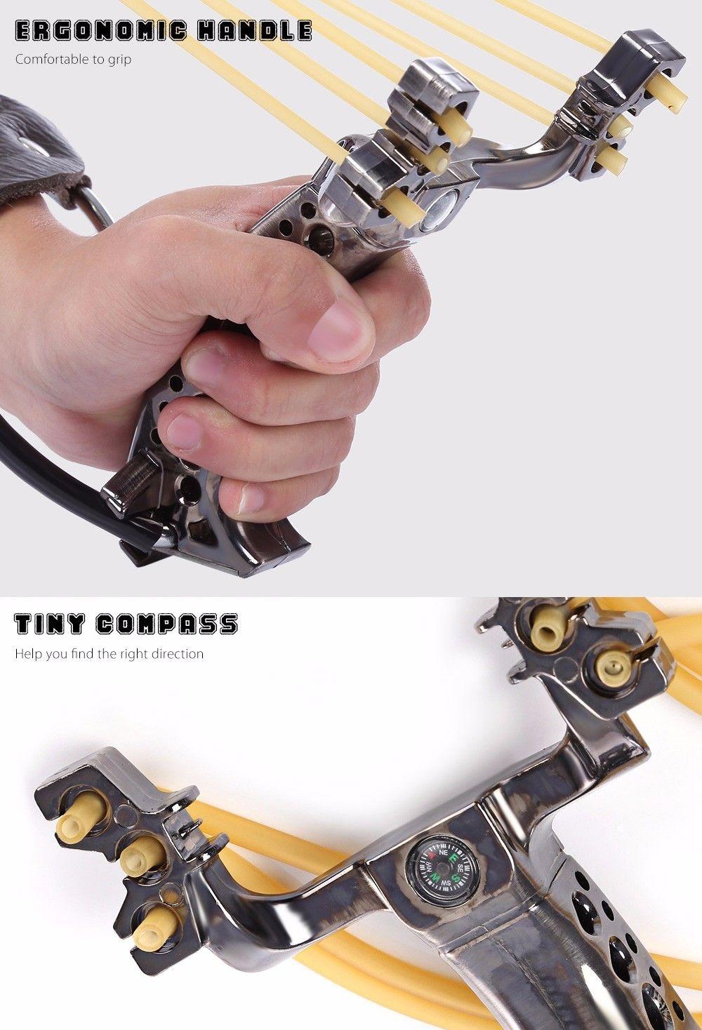 Rubber Band Slingshot Wrist Catapult Hunting Tools