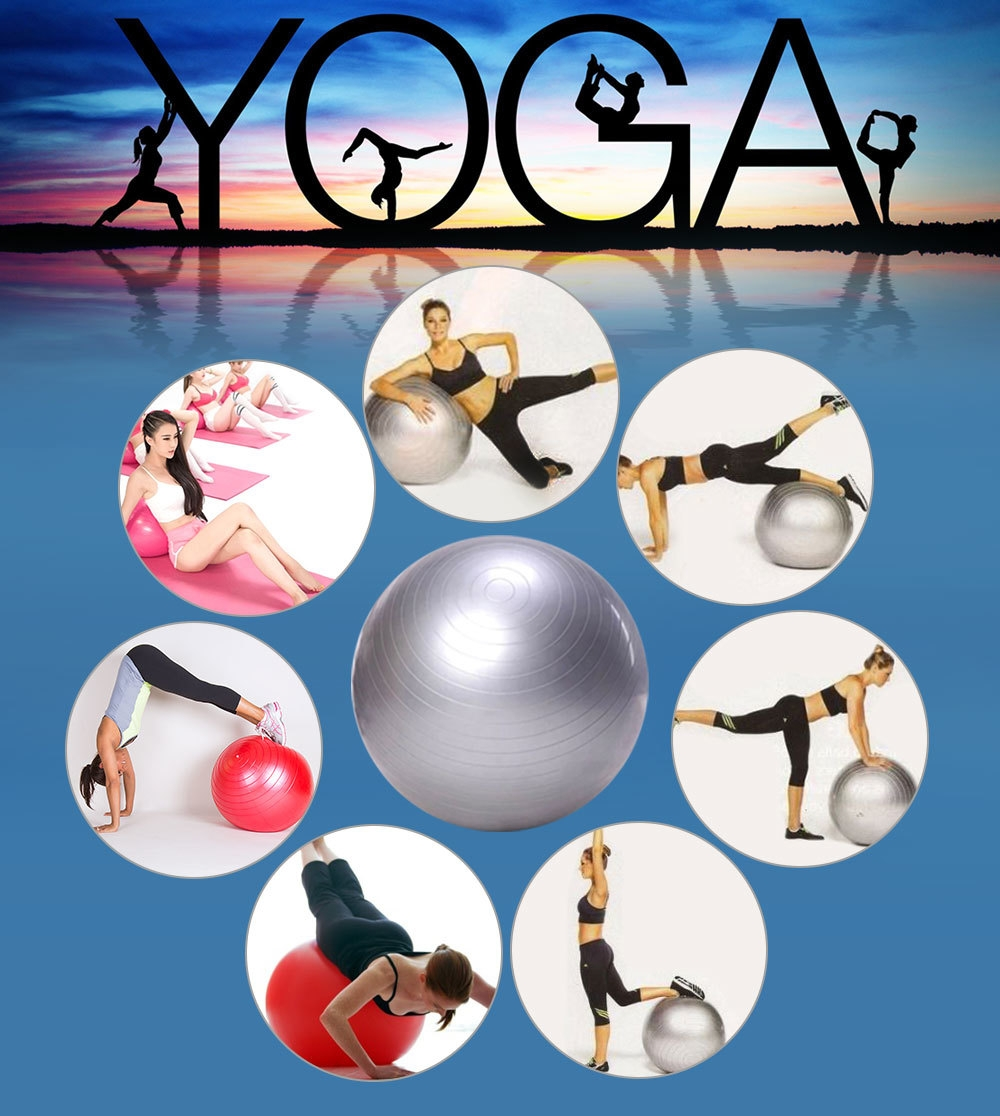 Outlife 65cm PVC Exercise Gym Yoga Ball for Fitness Training