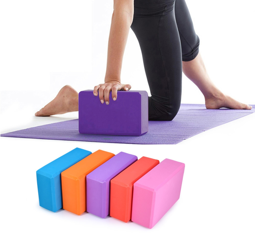Buy Yoga Blocks London: Eva Yoga Foam Block Brick For Exercise - Blue