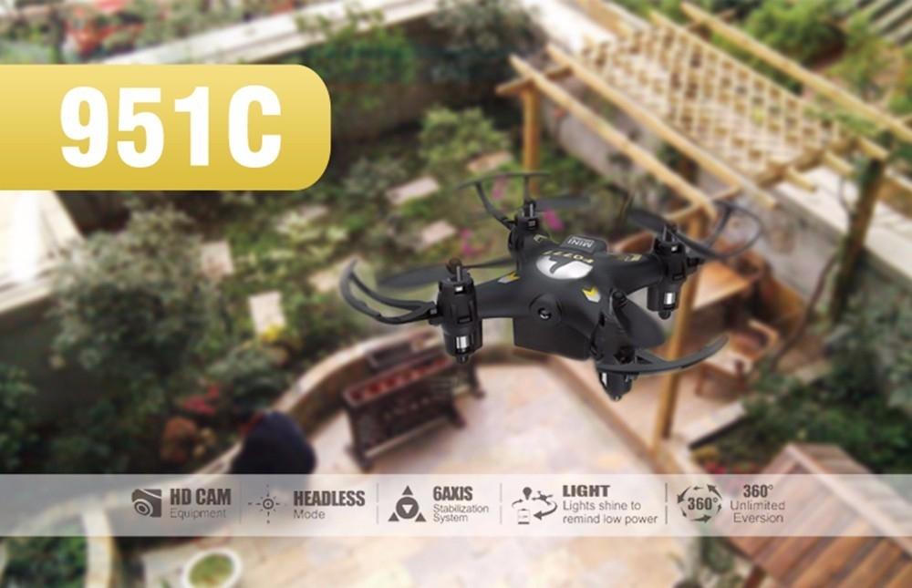 FQ777 951C 2.4G 4CH 6-Axis Gyro 0.3MP Camera RTF RC Quadcopter Aircraft Toy