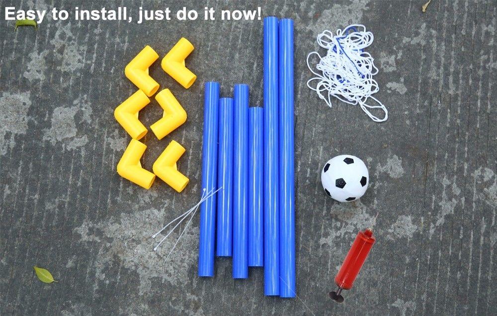 Mini Football Soccer Goal Post Net Set with Pump Kids Sport Toy