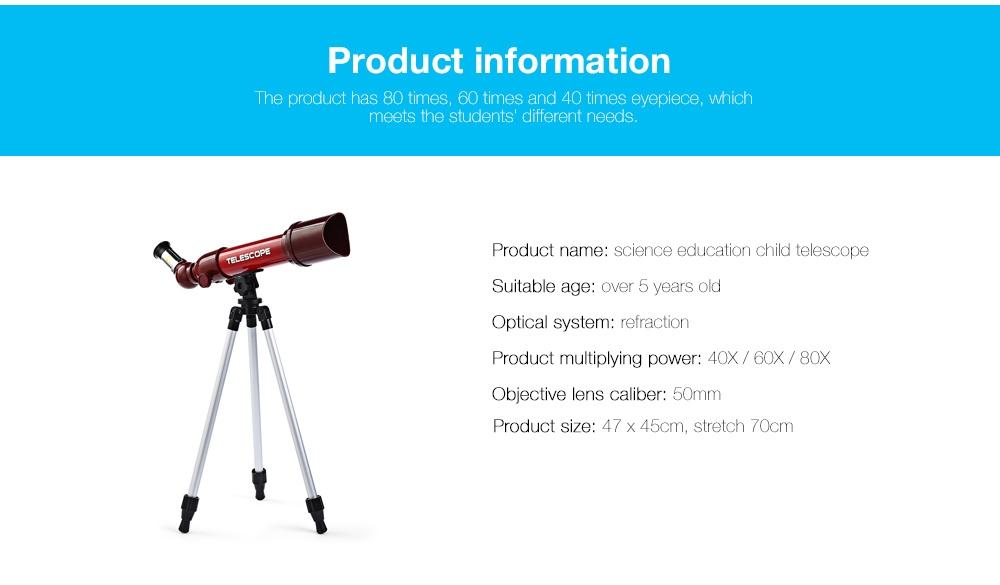 CHN AOHUA 3183 Kids Science Education Elementary Astronomy Telescope Eyepiece Toy