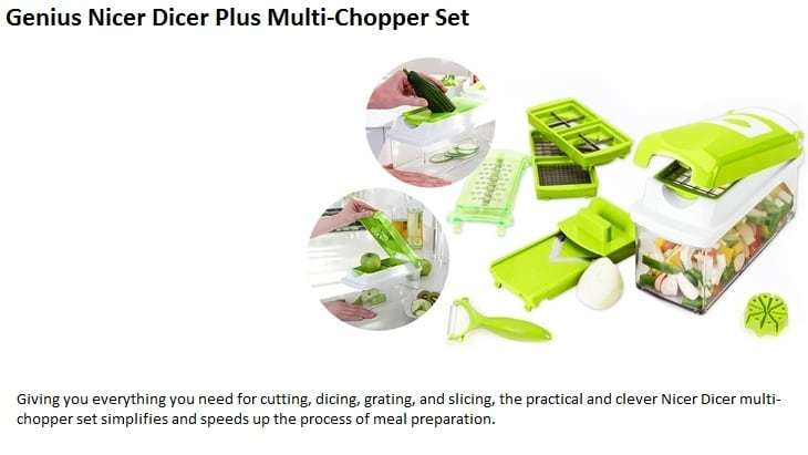 Nicer Dicer Plus Multi-Chopper Set on Jumia