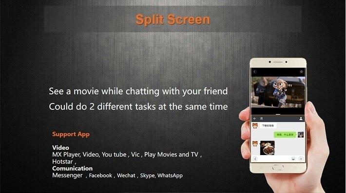 Gionee M6 on Jumia- split screen
