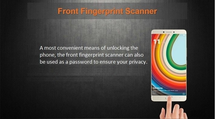Gionee M6 on Jumia - front fingerprint scanner