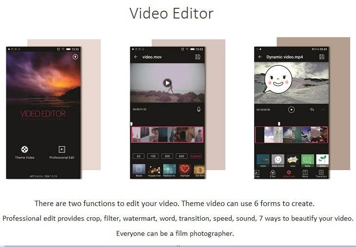 Gionee S6s Video Editor
