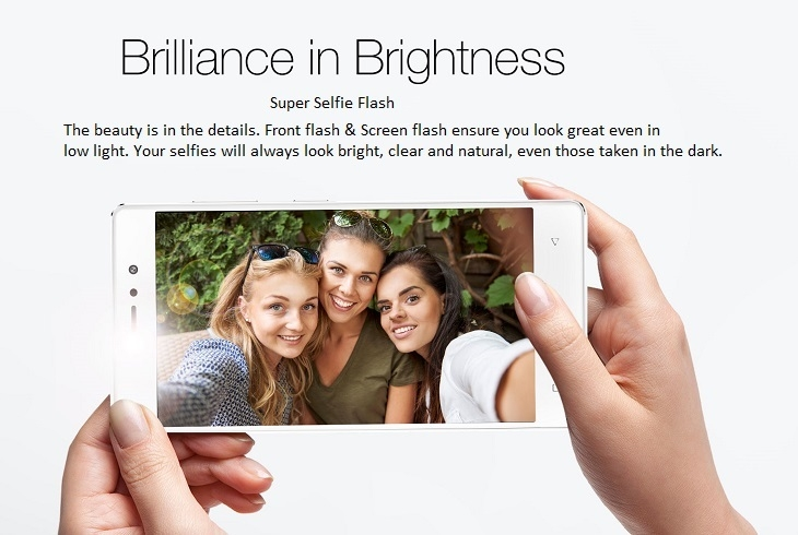 Gionee S6s front and screen flash