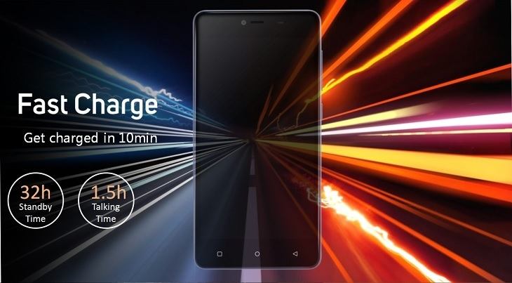 Gionee Marathon M5 Mini fast charge
