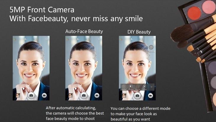 Gionee Marathon M5 Mini 5MP camera