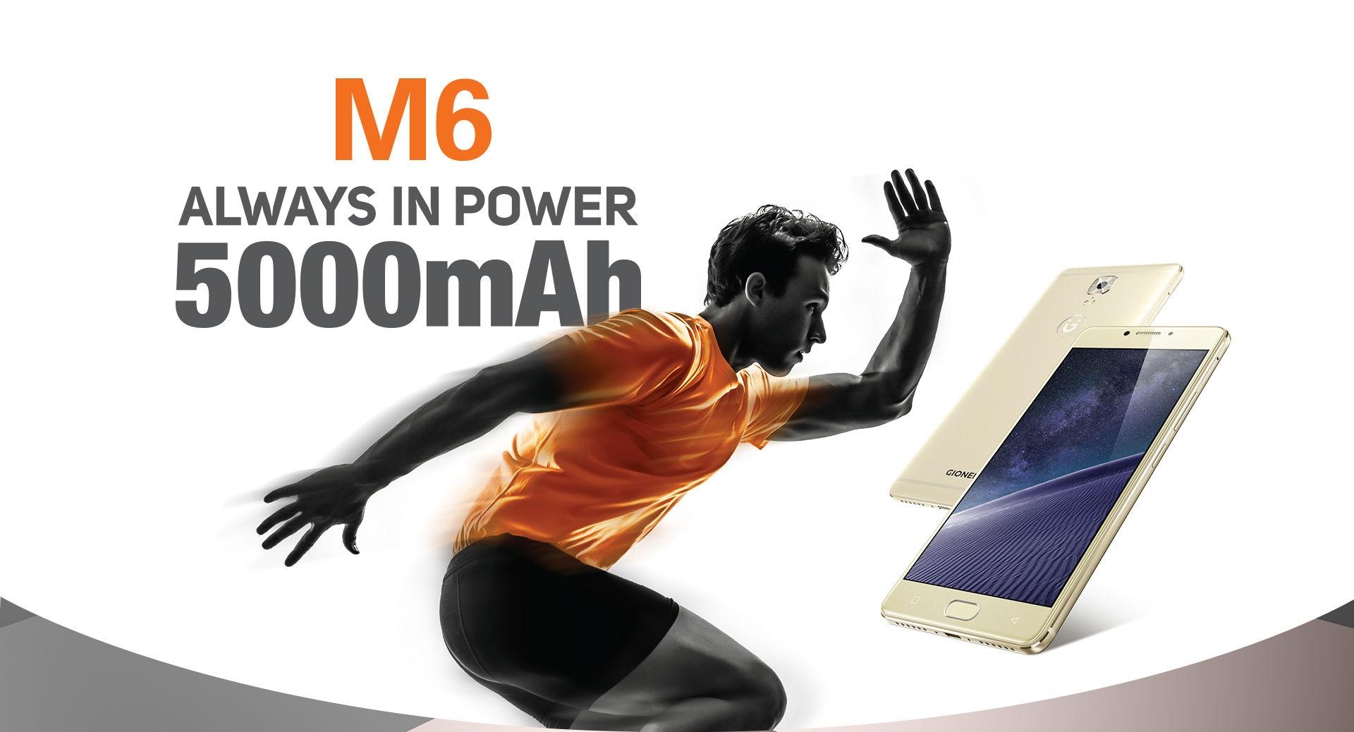 Gionee Gionee M6(GN8003) 4GB+64GB+128GB Internal Battery5000mAh 5 5inch Gold