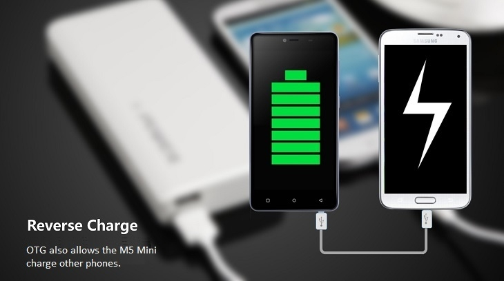 Gionee Marathon M5 Mini reverse charge