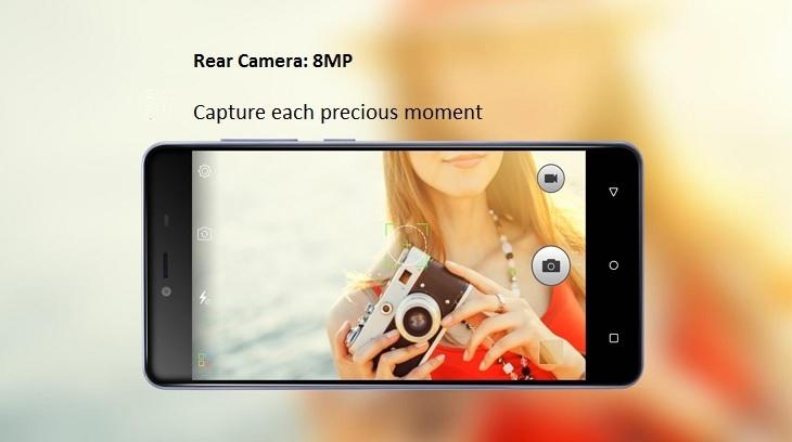 Gionee Marathon M5 Mini 8MP camera