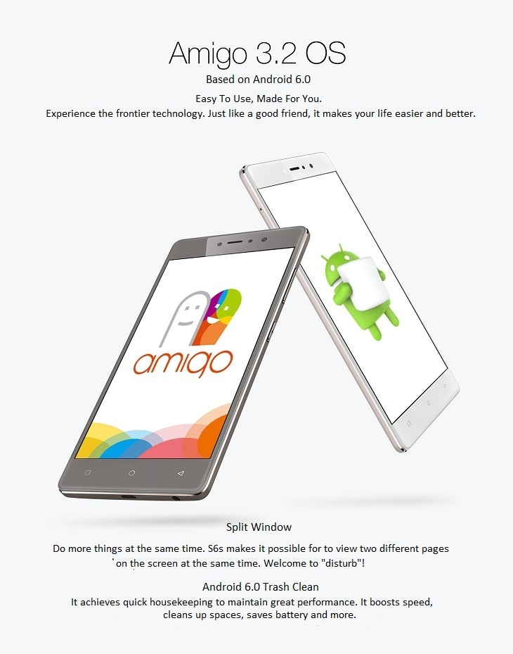 Gionee S6s Amigo 3.2 based on Android 6.0