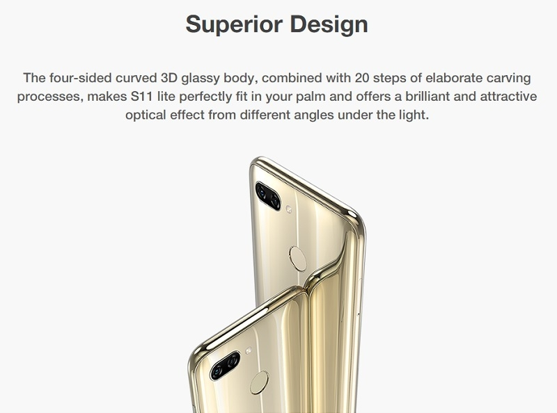 gionee s11 lite cheap android fingerprint phone
