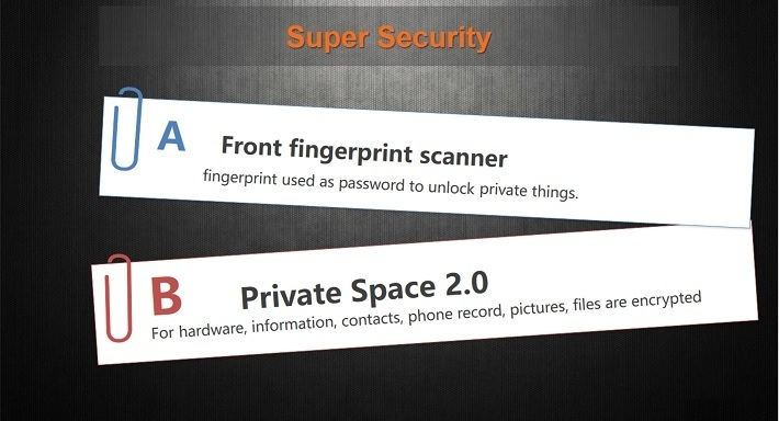 Gionee M6 on Jumia fingerprint security