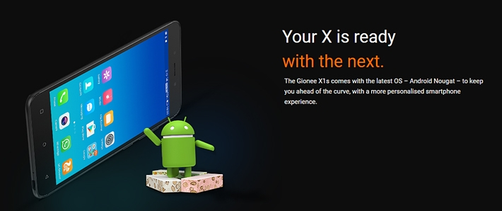 Gionee x1s website